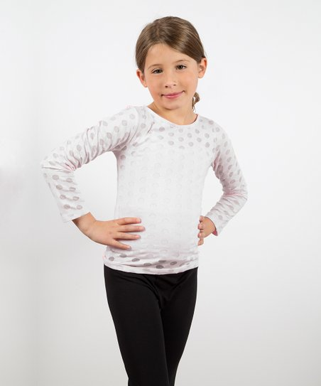 White Polka Dot Burnout Tee - Toddler & Girls