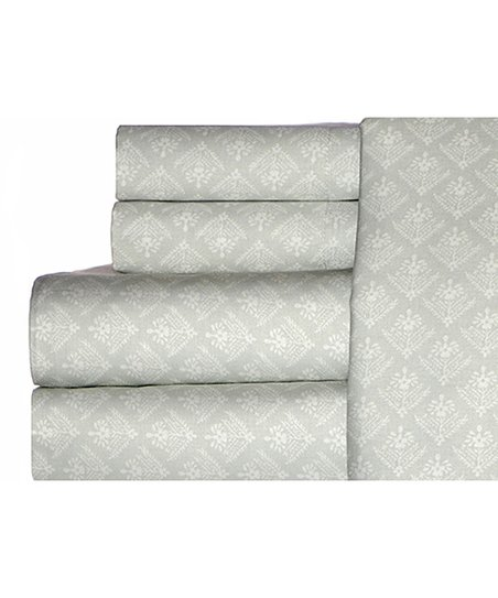 Gray Maisie King Sheet Set