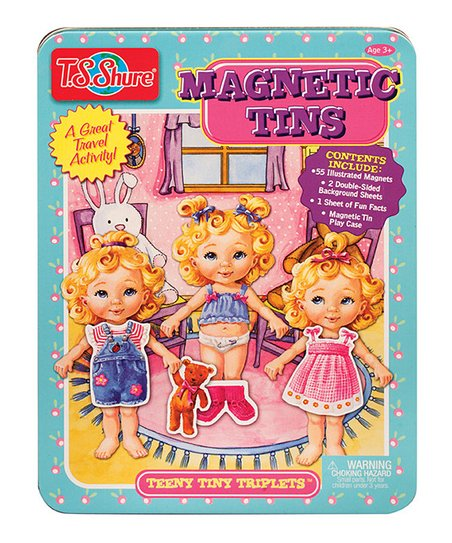 Teeny Tiny Triplets Magnetic Doll Set