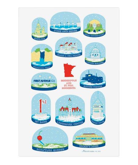 Boston Snow Globes Kitchen Towel