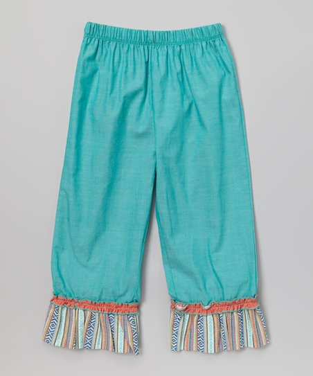 Teal Ruffle Pants - Infant & Girls
