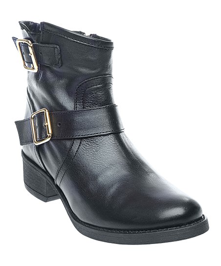 Black Leather Tiarraa Ankle Boot