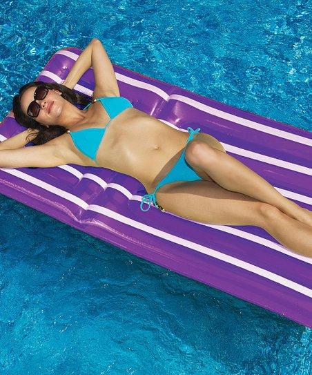 Grape Coolstripe Floating Pool Raft
