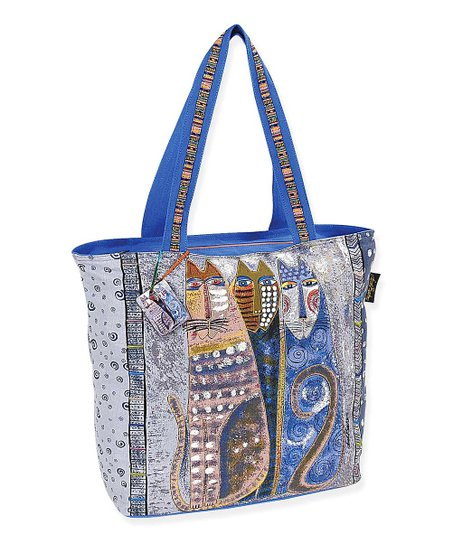 Blue & Gray Autumn Felines Tote