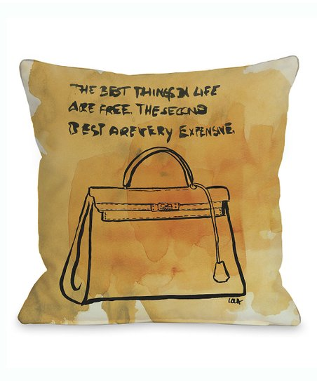 'The Best Things' Throw Pillow