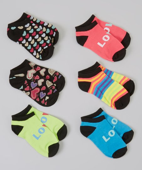 Lime Green 'Love' Socks Set