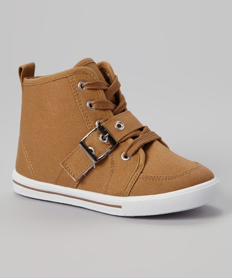 Camel Star Buckle Hi-Top Sneaker