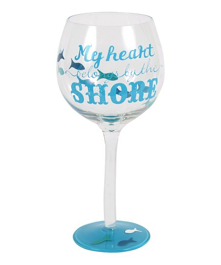 'My Heart' Hand-Painted 18-Oz. Wineglass