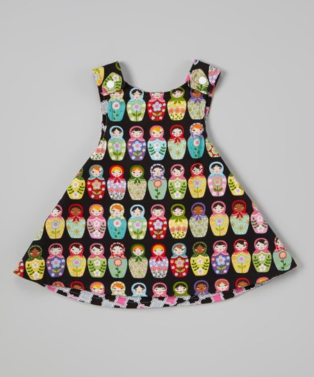 Black Russian Doll Reversible A-Line Dress - Infant, Toddler & Girls