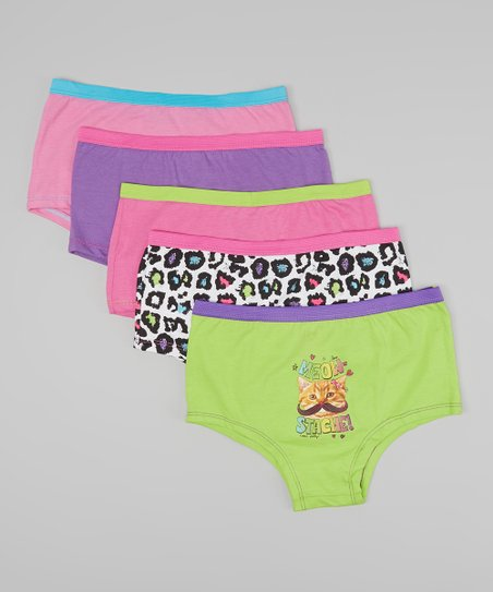 Pink Cheetah Underwear Set – Girls