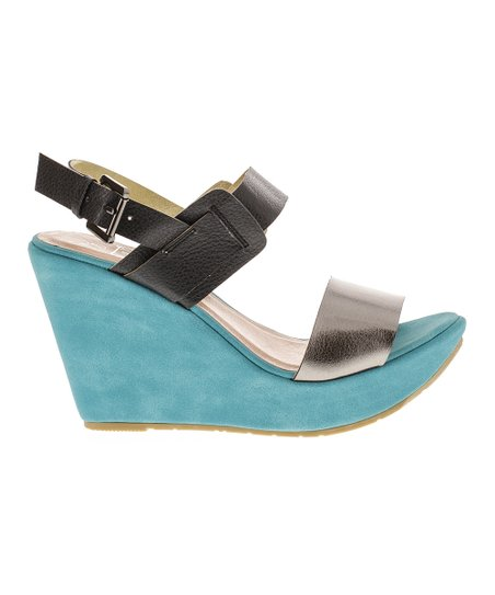 Black & Pewter Capri 6 Wedge
