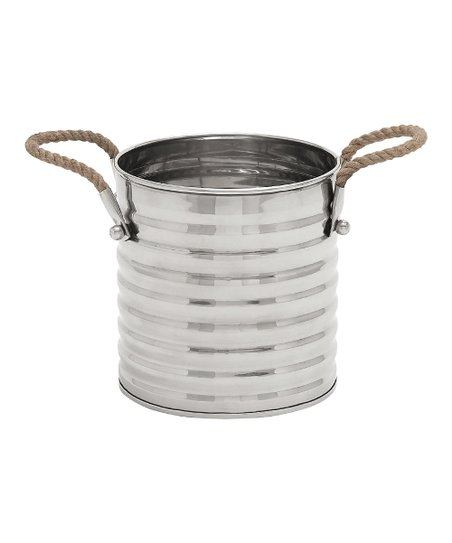 Stainless Steel & Rope Wine Cooler