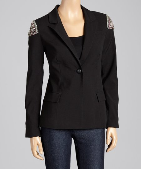 Black Beaded Blazer