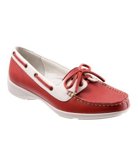 White & Red Zaza Loafer