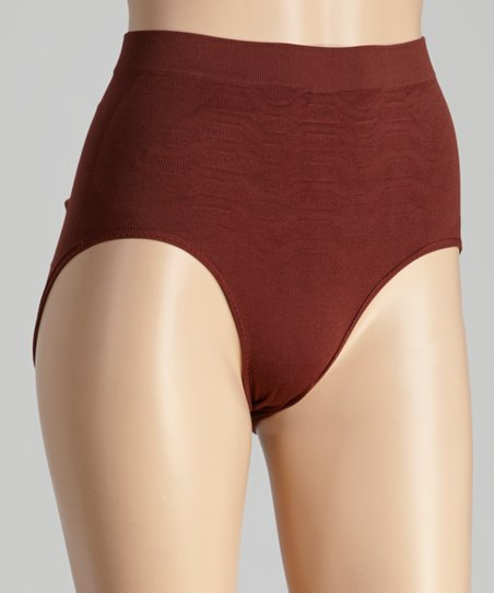 Chocolate Brown Shaper Briefs - Women
