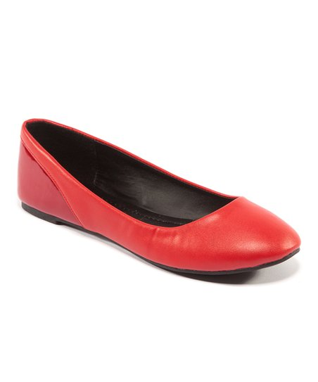 Red Smooth Florie Flat