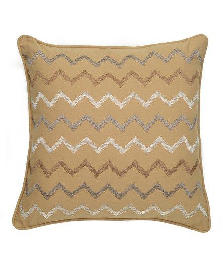 Gold & Gray Samara Zigzag Pillow