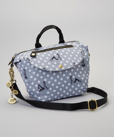 Gray Zazie Dots Crossbody Bag & Coin Purse