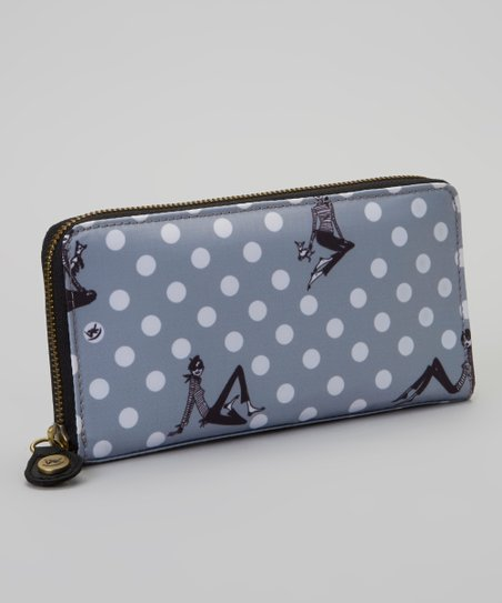 Gray Zazie Dots Wallet