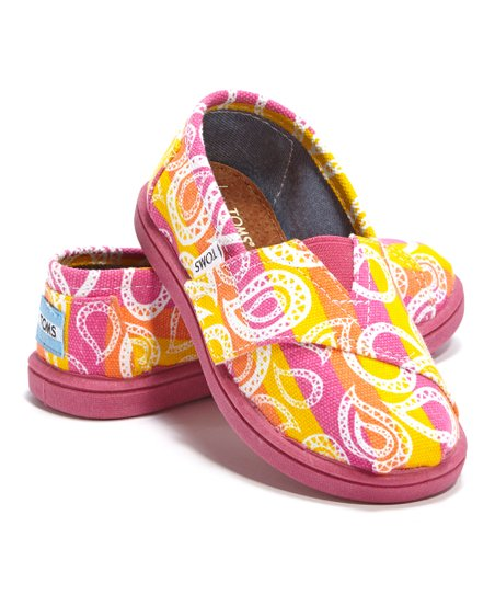 Pink Rainbow Paisley Canvas Classics - Tiny