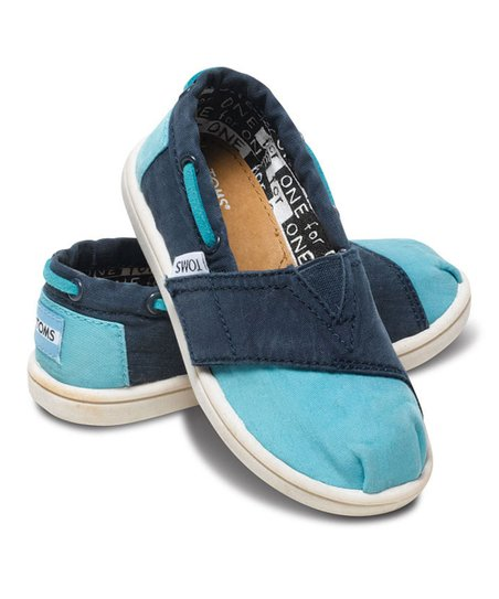 Navy & Aqua Stone-Washed Canvas Biminis - Tiny