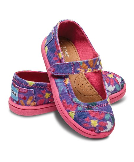 Purple Daisy Canvas Mary Jane - Tiny