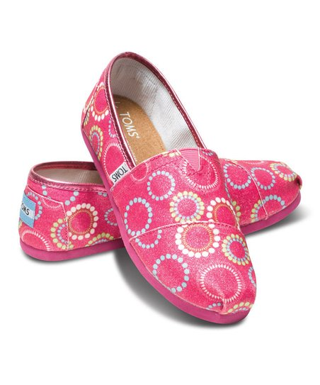 Pink Circles Glitter Classics - Youth