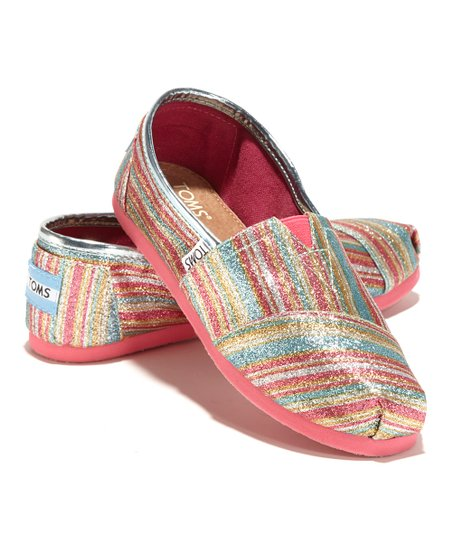 Pink Glitter Stripe Classics - Youth