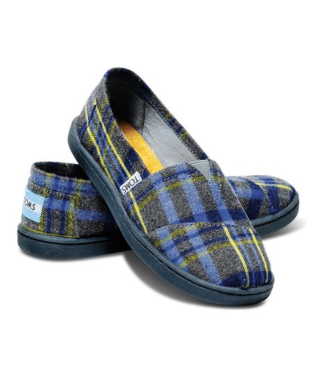 Blue Plaid Wool Classics - Youth