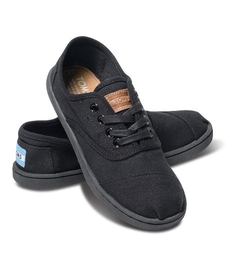 Black Canvas Cordones - Youth