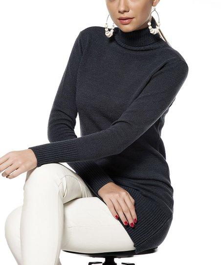 Navy Turtleneck Sweater