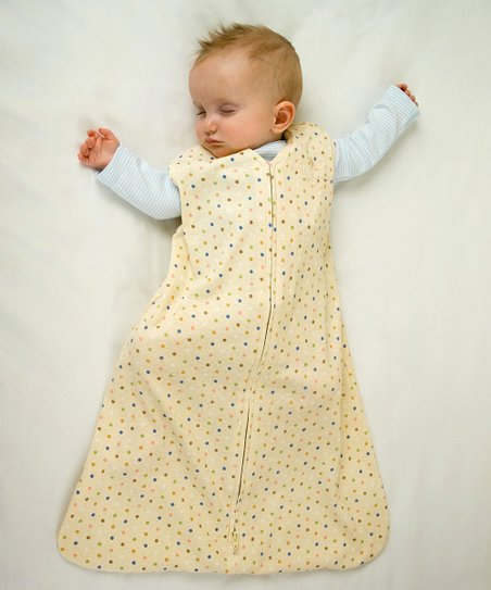 Blue & Green Dot Organic SleepSack