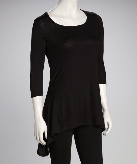 Black Sidetail Top