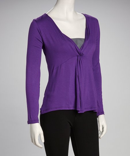 Purple Surplice Top