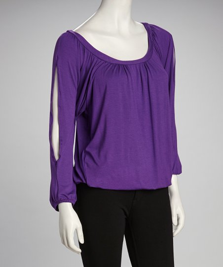 Purple Scoop Neck Top