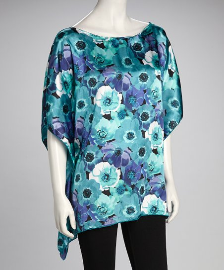 Jade & Purple Silk Dolman Top