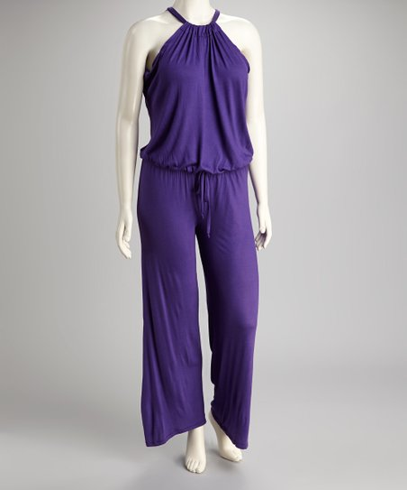 Purple Jumpsuit - Plus