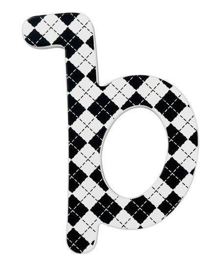 Modern Argyle Letter B Wall Sign