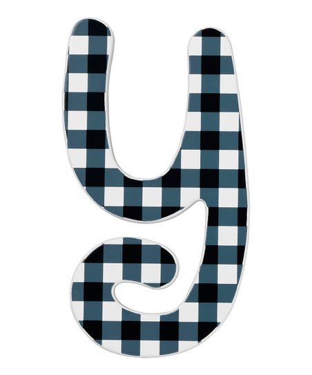 Modern Check Letter Y Wall Sign