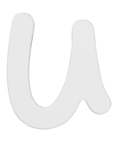 White Letter U Wall Sign
