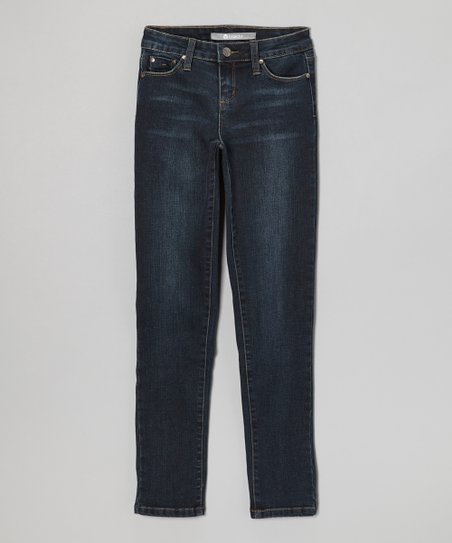 Indigo High-Waist Skinny Jeans