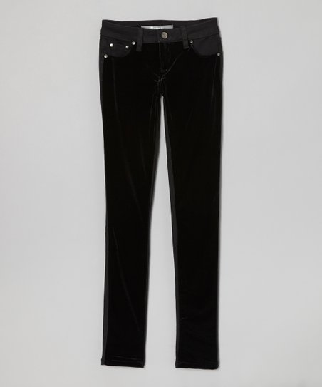 Black Velvet Jeggings