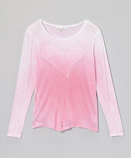 Pink Heart Ombré Tee