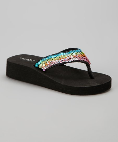 Black Sequin Flip-Flop