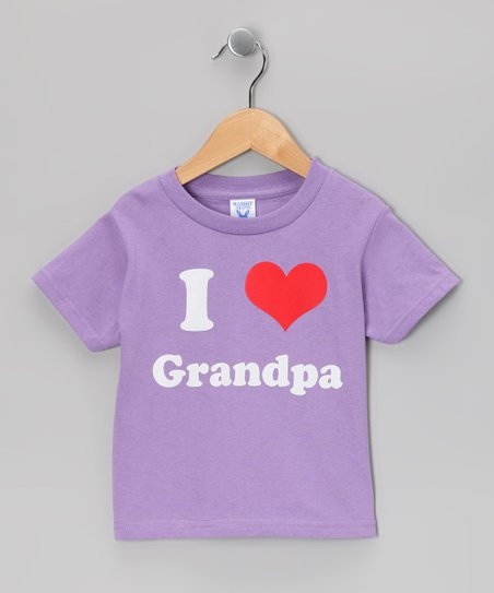 Lavender I Love Grandpa Tee - Toddler & Girls