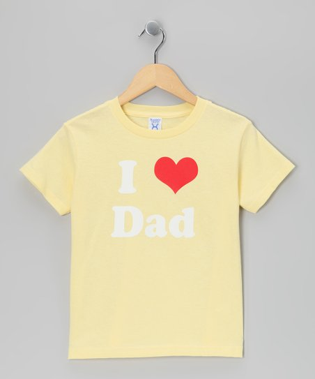 Banana I Love Dad Tee - Girls