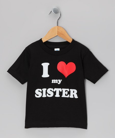 Black I Love My Sister Tee - Toddler & Kids