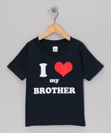 Navy I Love My Brother Tee - Toddler &amp; Kids