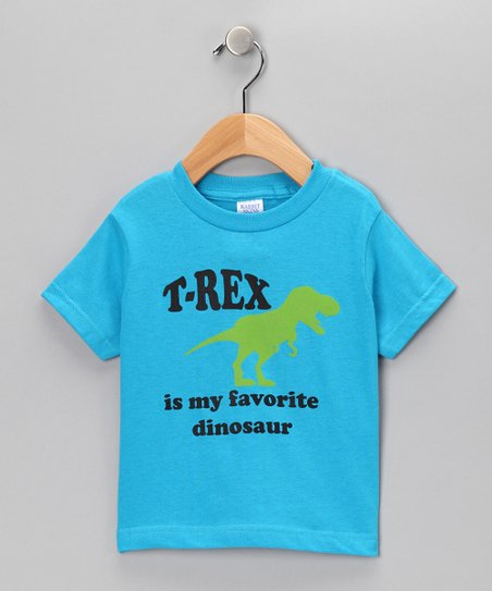 Turquoise Favorite T-Rex Tee - Toddler & Kids