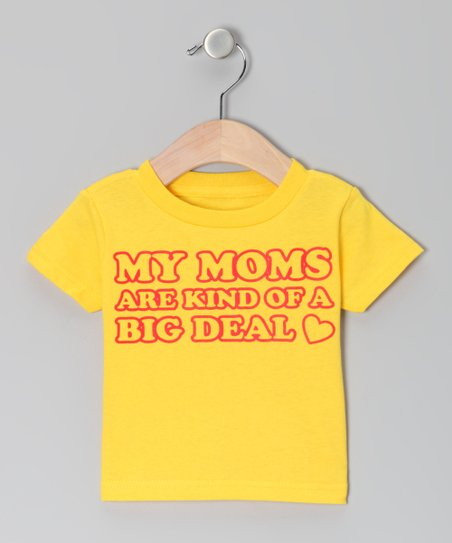 Yellow 'My Moms' Tee - Infant, Toddler & Kids